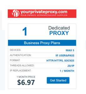 yourprivateproxy packages